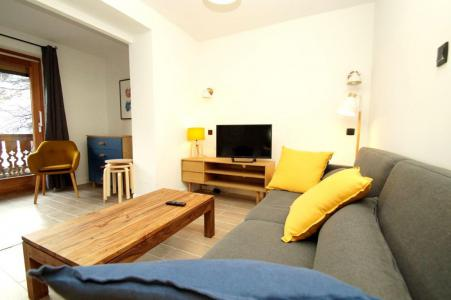 Rent in ski resort 2 room apartment sleeping corner 10 people (307) - Résidence Les Marmottes - Les 2 Alpes - Living room
