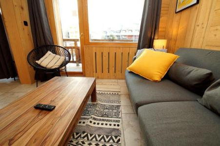 Rent in ski resort 2 room apartment sleeping corner 8 people (204) - Résidence Les Marmottes - Les 2 Alpes - Living room