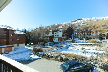 Location au ski Studio coin montagne 4 personnes - Résidence Saint Christophe - Les 2 Alpes - Balcon