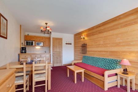 Rent in ski resort Studio sleeping corner 4 people - Résidence Saint Christophe - Les 2 Alpes - Living room