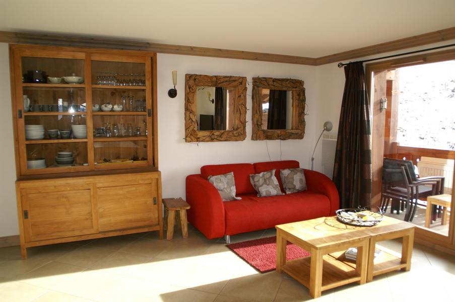 Location au ski Appartement 3 pièces cabine 6-8 personnes - Résidence les Granges des 7 Laux - Les 7 Laux - Séjour