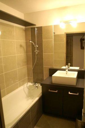 Location au ski Appartement 3 pièces cabine 6-8 personnes - Residence Les Granges Des 7 Laux - Les 7 Laux - Baignoire