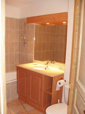 Location au ski Appartement duplex 3 pièces cabine 10 personnes - Residence Les Granges Des 7 Laux - Les 7 Laux - Lavabo