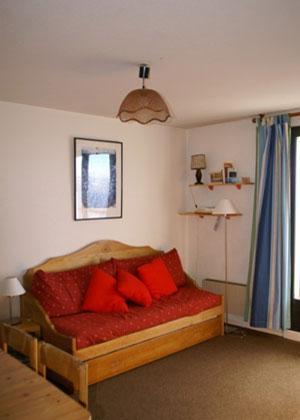 Location au ski Appartement 3 pièces 7 personnes (standard) - Residences Prapoutel Les 7 Laux - Les 7 Laux - Banquette-lit