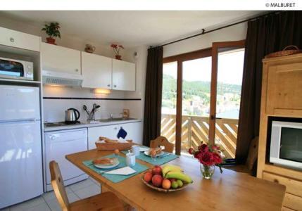Location au ski Appartement 3 pièces 6 personnes - Residence Lagrange Prat De Lis - Les Angles - Coin repas