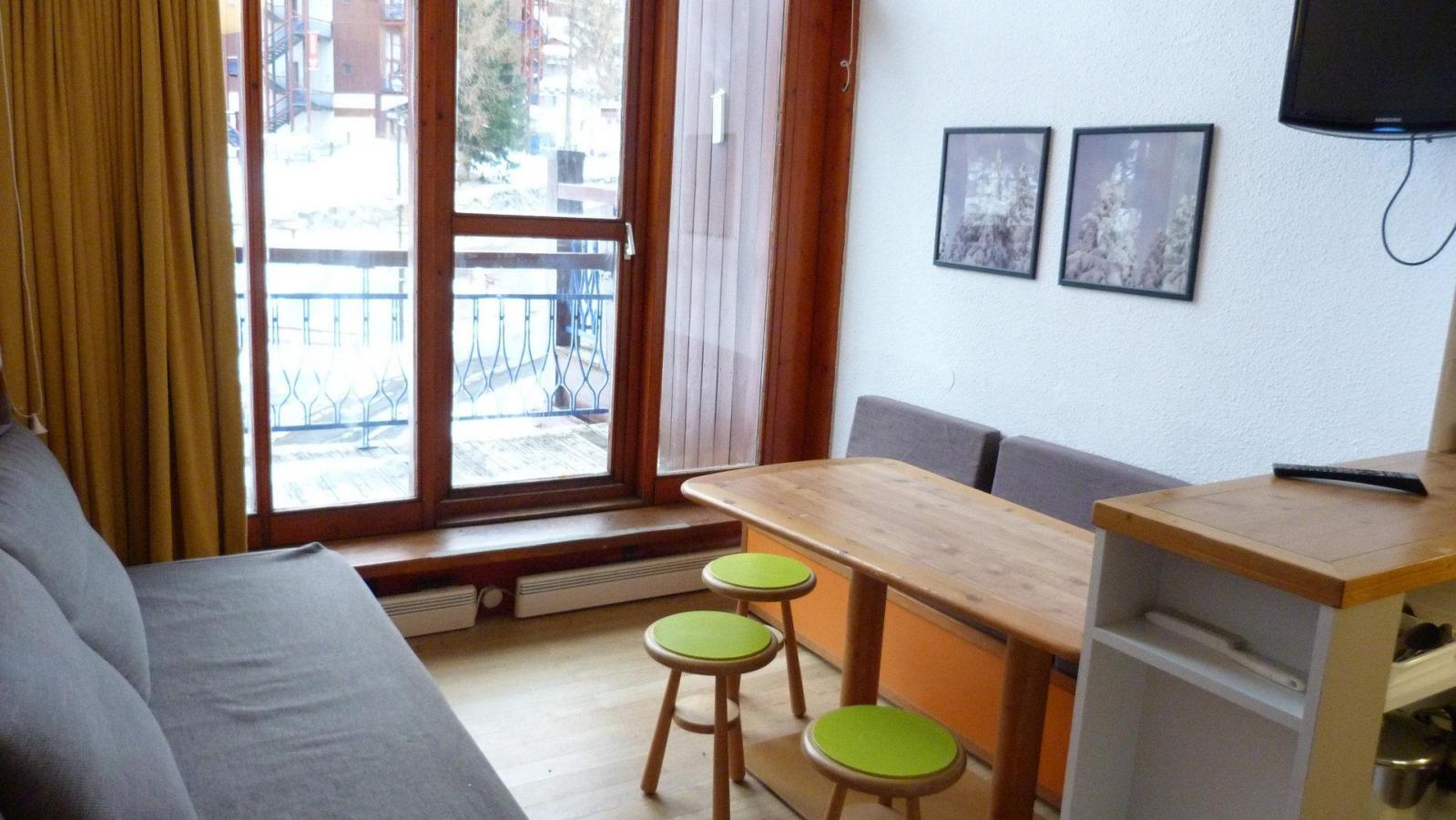 Location au ski Studio coin montagne 5 personnes (412) - Residence L'alliet - Les Arcs
