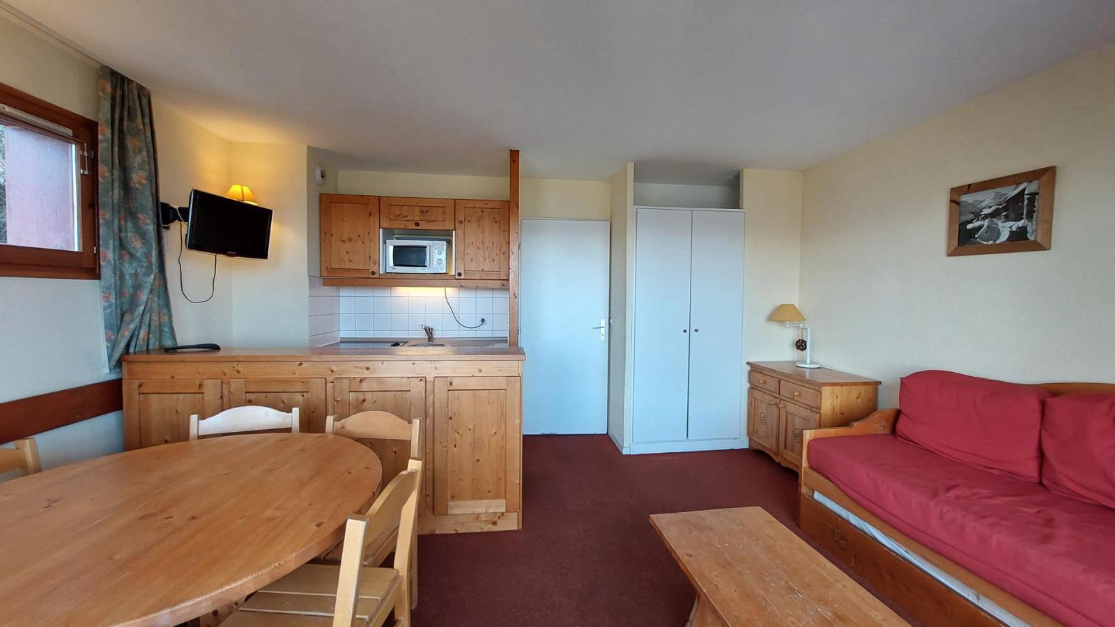 Location au ski Appartement 3 pièces 6 personnes (416) - Residence Le Ruitor - Les Arcs - Séjour