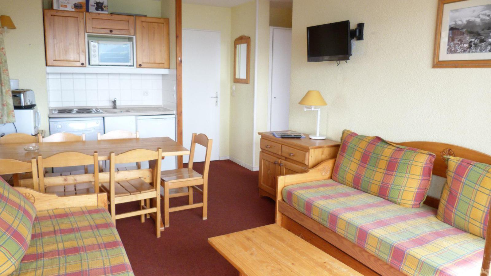 Location au ski Appartement 3 pièces 6 personnes (508) - Residence Le Ruitor - Les Arcs - Séjour