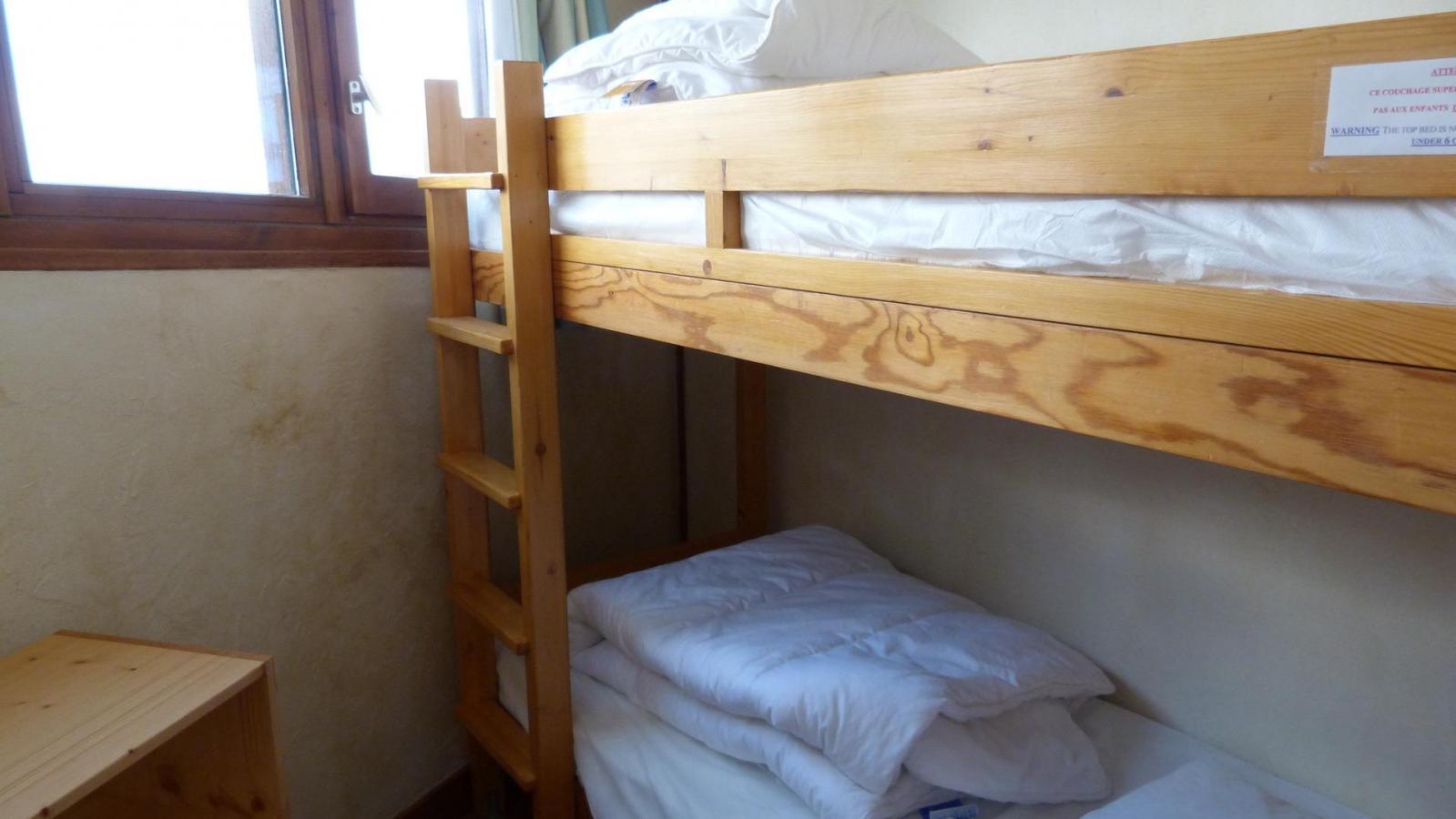 Location au ski Appartement 3 pièces 6 personnes (907) - Residence Le Ruitor - Les Arcs - Lits superposés