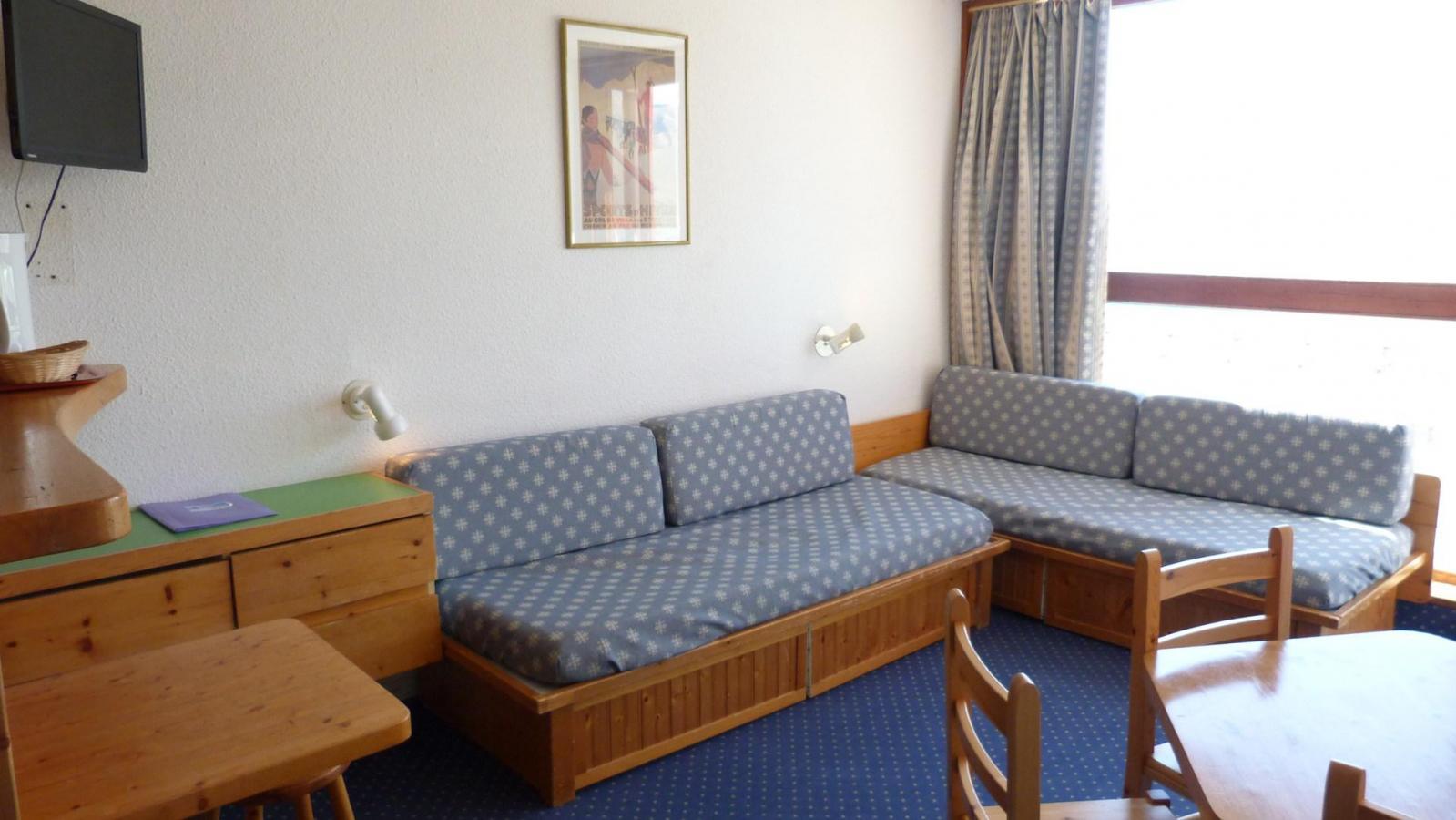 Location au ski Appartement 2 pièces 5 personnes (321) - Residence Les Tournavelles - Les Arcs - Banquette-lit