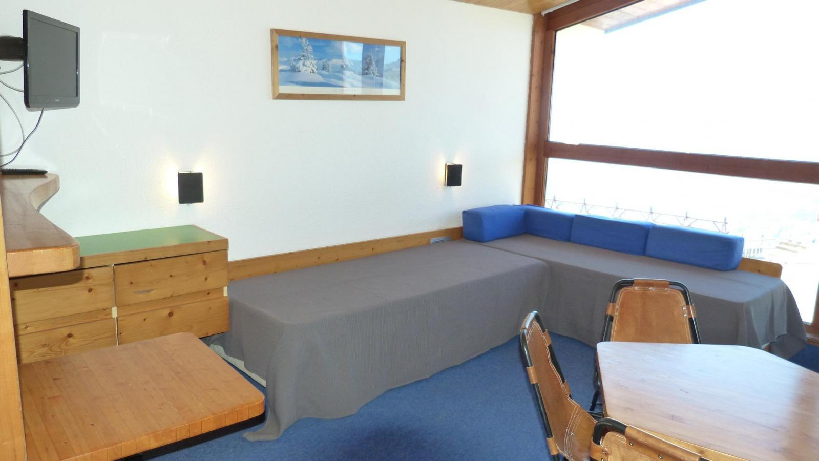 Location au ski Appartement 2 pièces 5 personnes (419) - Residence Les Tournavelles - Les Arcs - Canapé-lit