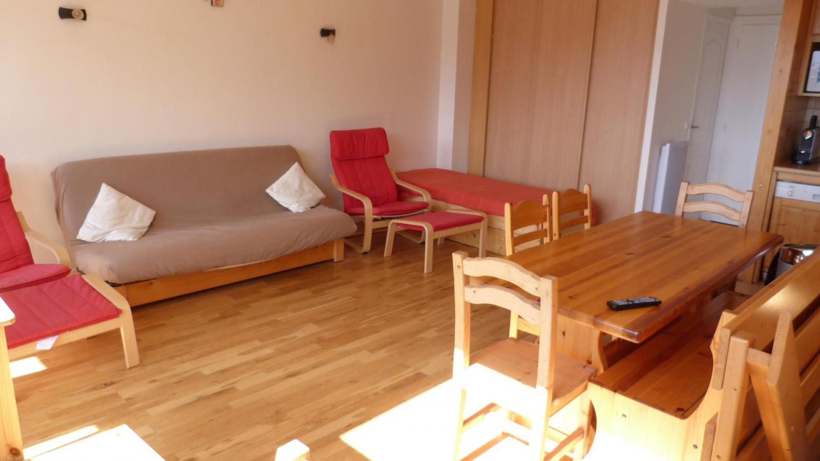 Location au ski Appartement 3 pièces 8 personnes (126) - Residence Les Tournavelles - Les Arcs - Séjour