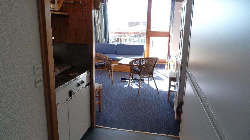 Location au ski Studio 3 personnes (117) - Residence Les Tournavelles - Les Arcs - Séjour