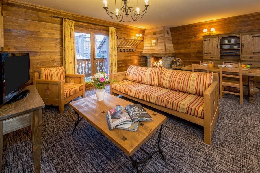 Wynajem na narty Apartament 3 pokojowy 4-6 osób - Chalet de l'Ours - Les Arcs - Pokój gościnny