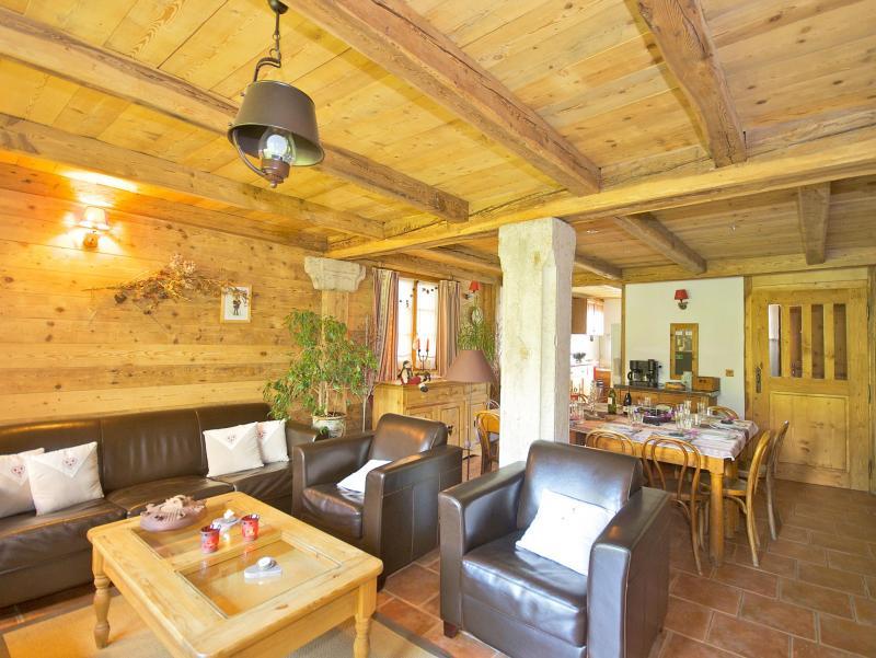 Rent in ski resort Chalet Deux Têtes I - Les Arcs - Living room