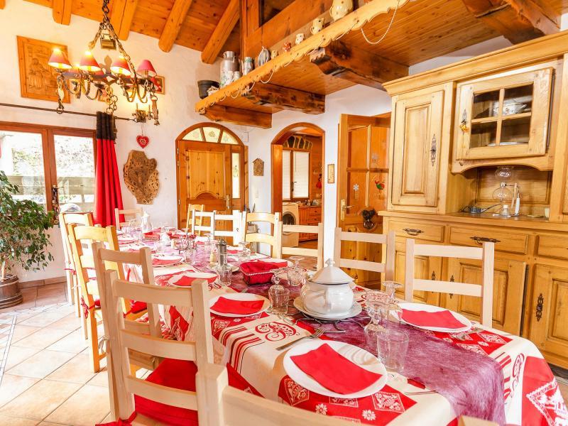 Location au ski Chalet Villaroger - Les Arcs - Salle à manger