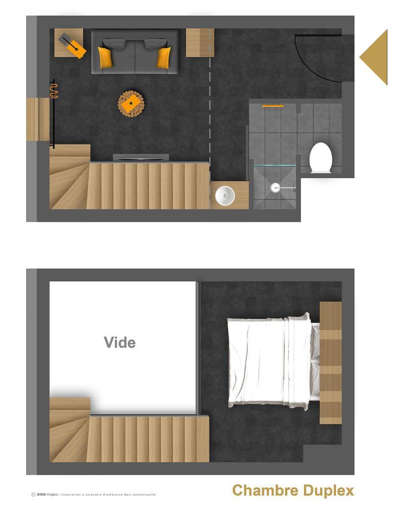 Alquiler al esquí Suite 2-4 personas (ISERAN) - Hôtel Base Camp Lodge - Les Arcs - Plano