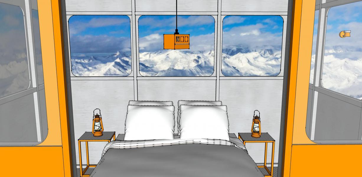 Alquiler al esquí Habitación 2 personas (TELEPHERIQUE) - Hôtel Base Camp Lodge - Les Arcs - Plano