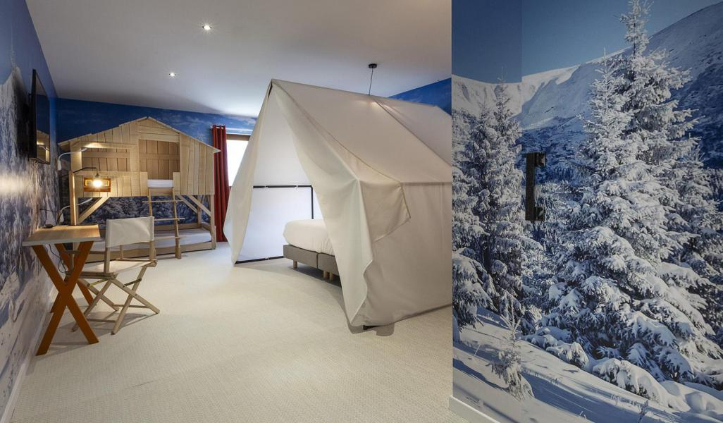 Location au ski Chambre 1-2 personnes (TENTE) - Hôtel Base Camp Lodge - Les Arcs - Chambre