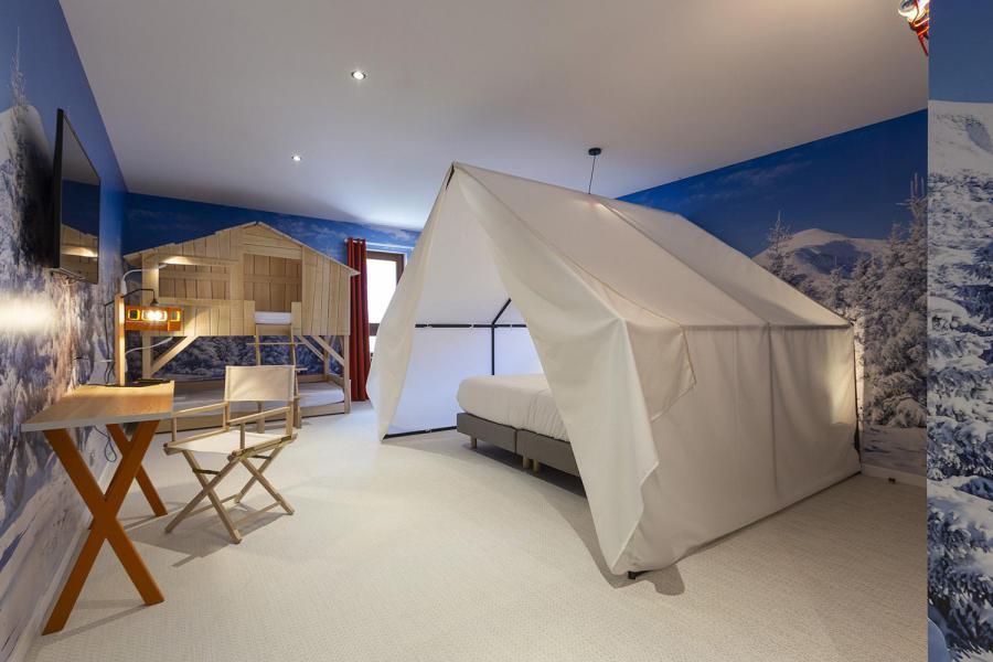 Location au ski Chambre 1-2 personnes (TENTE) - Hôtel Base Camp Lodge - Les Arcs - Lit double