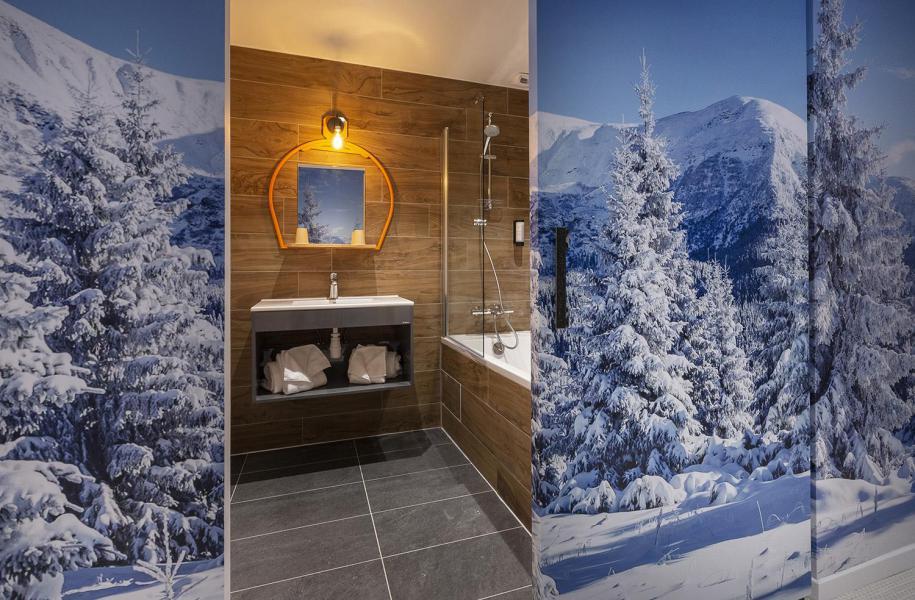 Location au ski Chambre 1-2 personnes (TENTE) - Hôtel Base Camp Lodge - Les Arcs - Salle de bains