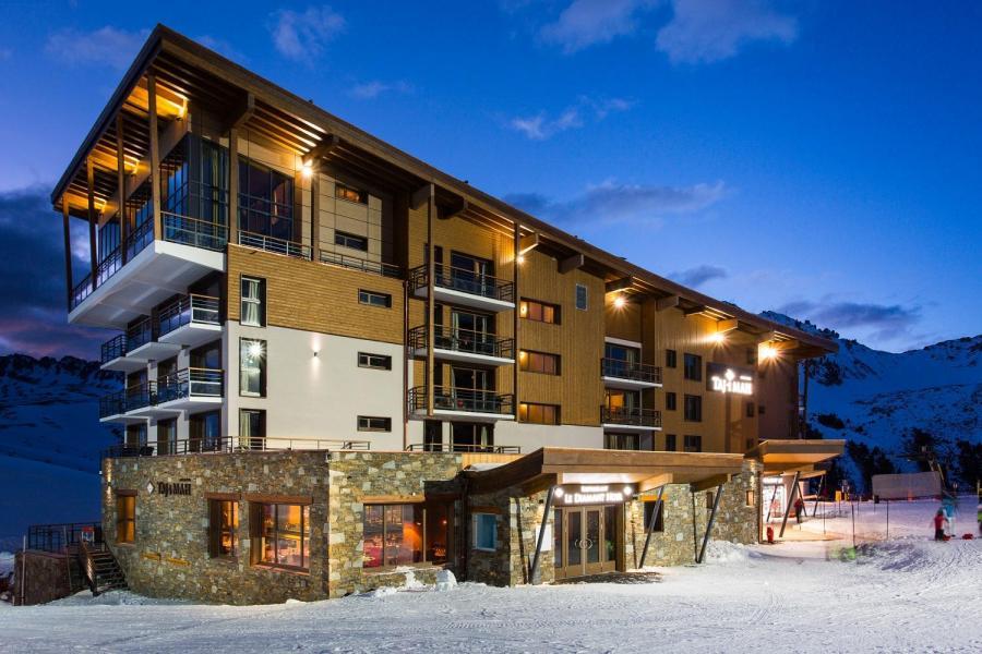 Vacances en montagne Hôtel Taj-I Mah - Les Arcs - Extérieur hiver