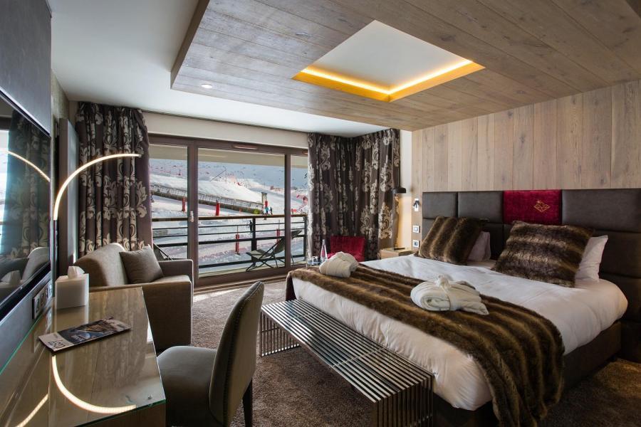 Skiverleih Hôtel Taj-I Mah - Les Arcs - Schlafbereich