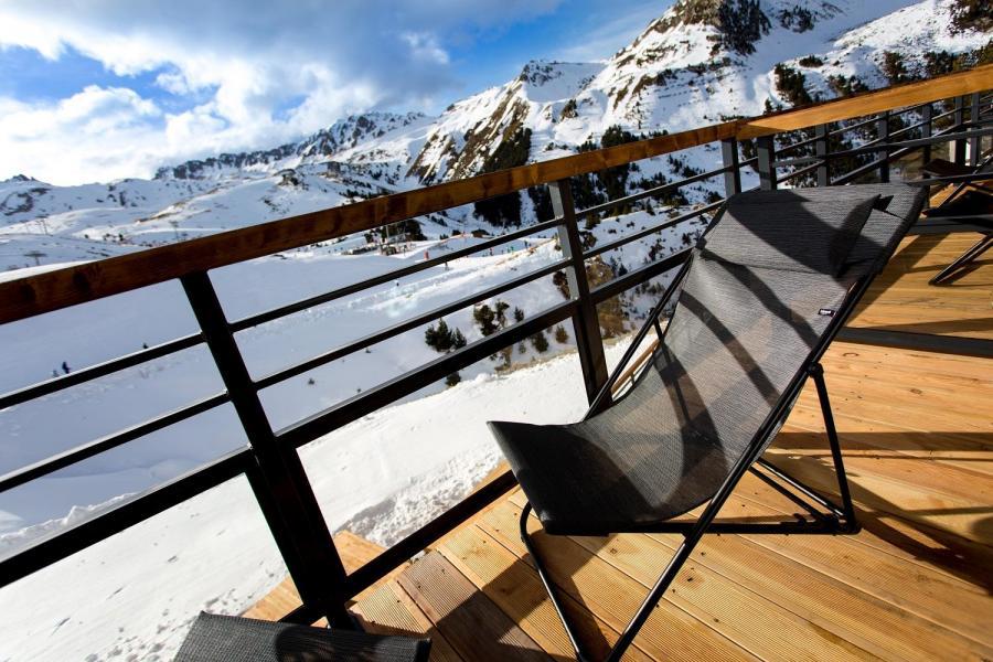 Location au ski Hôtel Taj-I Mah - Les Arcs - Terrasse