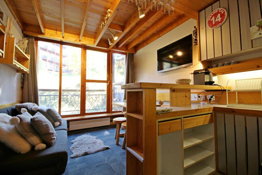Wynajem na narty Apartament duplex 2 pokojowy 6 osób (214) - La Résidence Alliet - Les Arcs - Pokój gościnny
