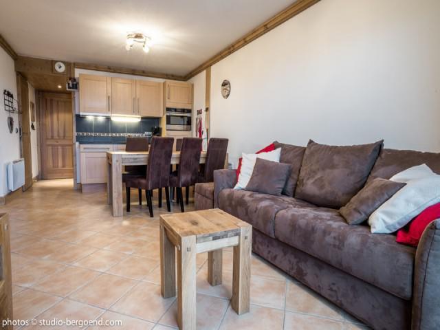 Wynajem na narty Apartament 3 pokojowy 7 osób (18B) - La Résidence l'Iseran - Les Arcs - Pokój gościnny