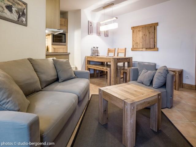 Location au ski Appartement 2 pièces cabine 5 personnes (29 C) - La Residence L'iseran - Les Arcs - Séjour