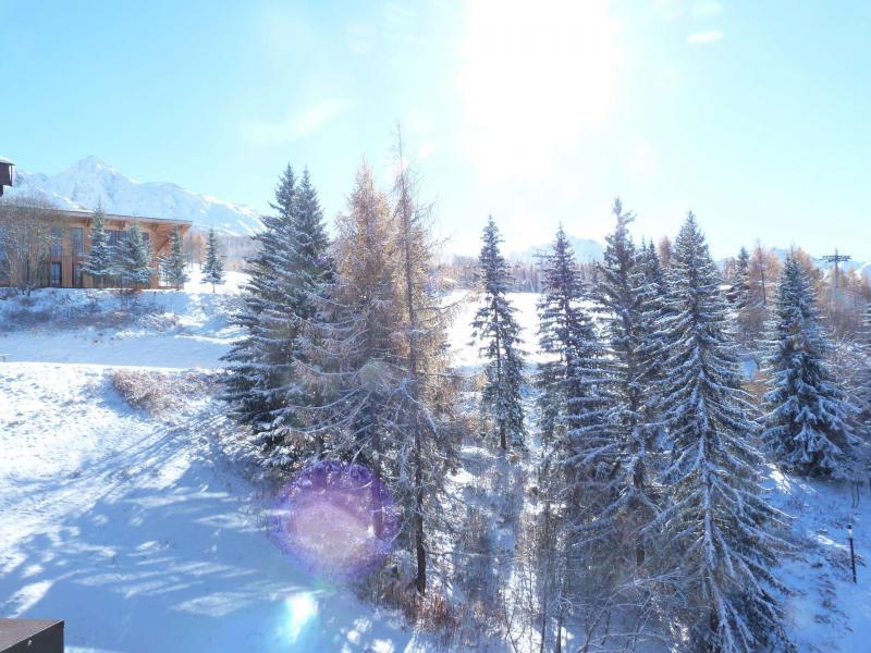Vacances en montagne Appartement 2 pièces mezzanine 6 personnes (1406) - Résidence Aiguille Grive Bat I - Les Arcs - Extérieur hiver