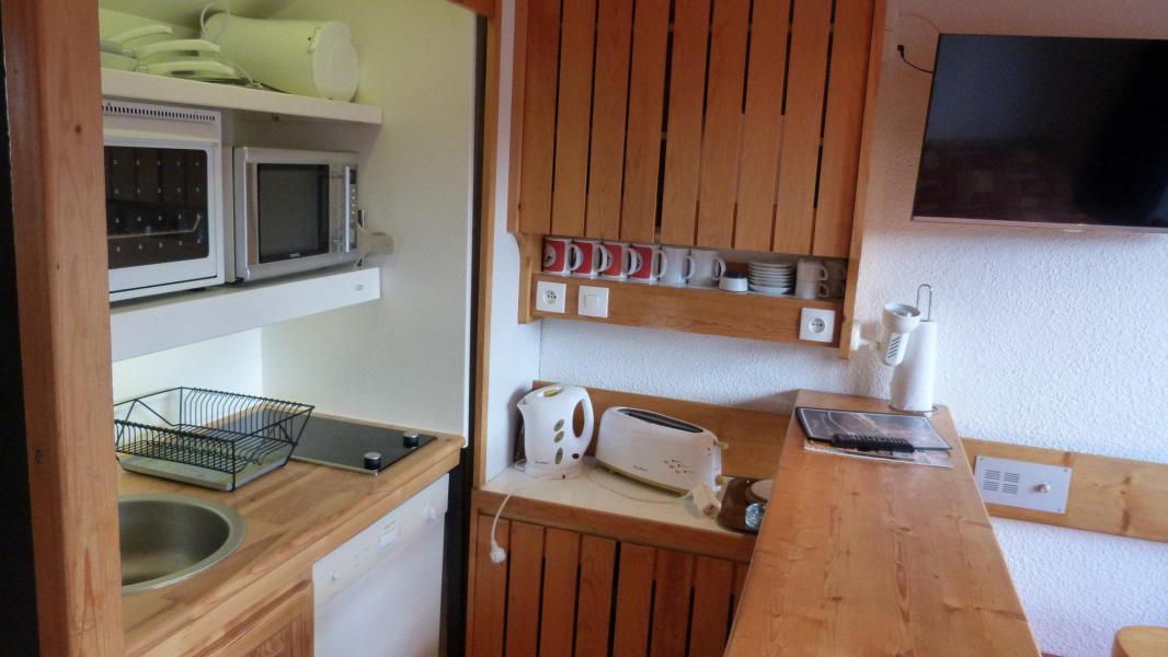 Location au ski Appartement 2 pièces mezzanine 6 personnes (1406) - Résidence Aiguille Grive Bat I - Les Arcs - Kitchenette