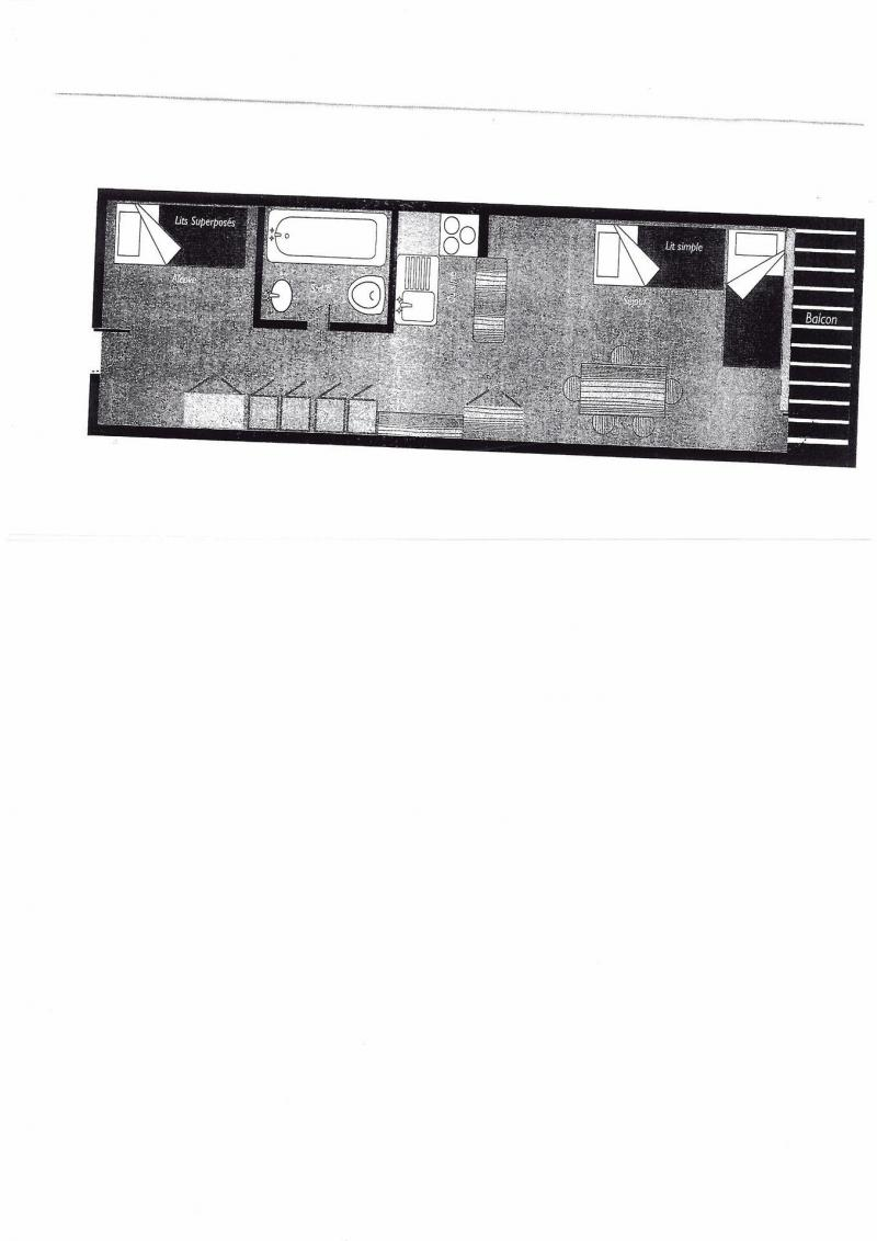 Wynajem na narty Studio z alkową 4 osoby (424) - Résidence Aiguille Rouge - Les Arcs