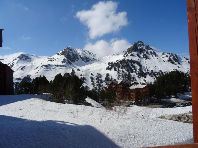 Location au ski Studio coin montagne 4 personnes (403) - Résidence Bel Aval - Les Arcs - Extérieur hiver