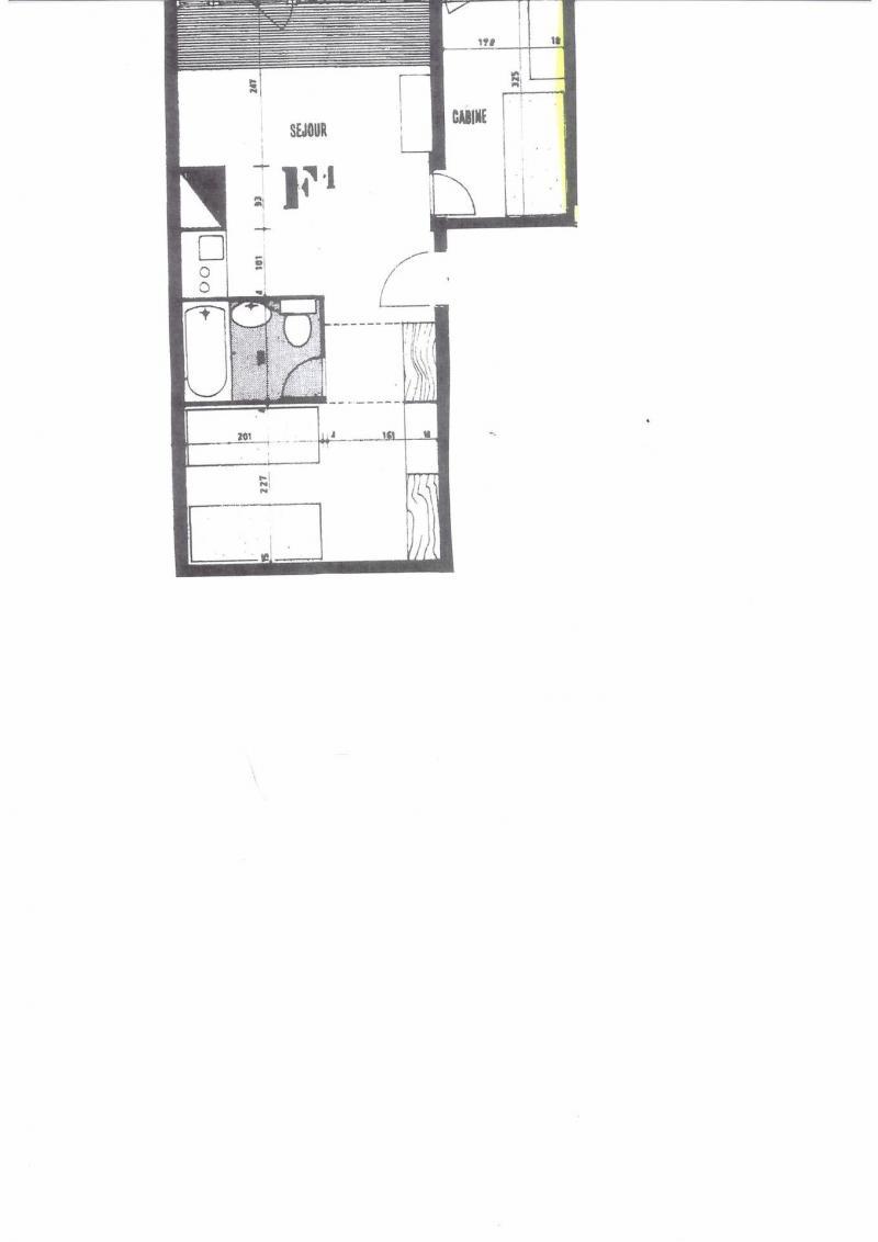 Location au ski Appartement 2 pièces 4 personnes (729R) - Résidence Cachette - Les Arcs - Plan