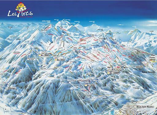 Location au ski Résidence Cascade - Les Arcs - Plan