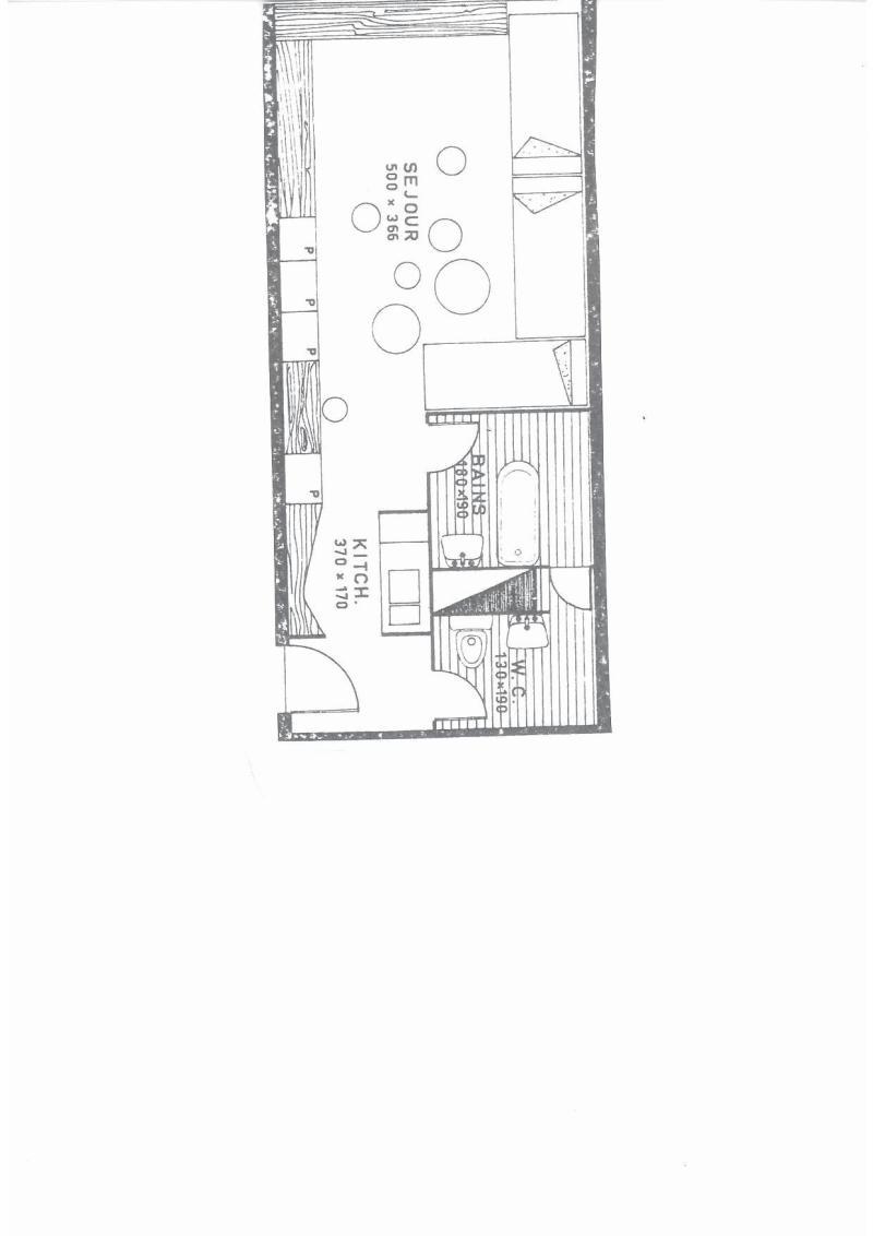 Location au ski Studio 4 personnes (554) - Résidence Cascade - Les Arcs - Plan