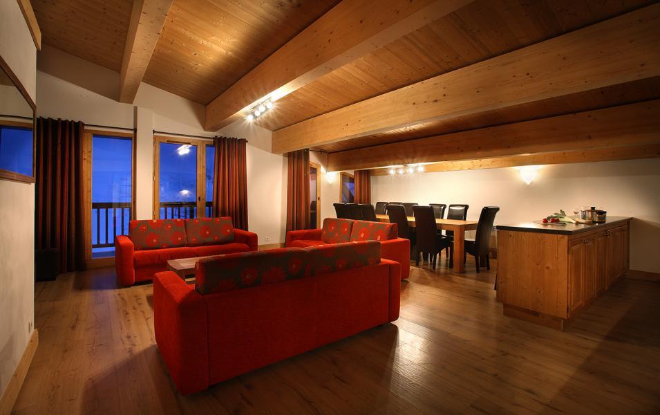Location au ski Residence Chalet Des Neiges Cime Des Arcs - Les Arcs - Coin séjour