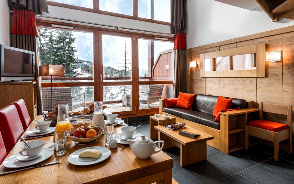 Location au ski Residence Lagrange Le Roc Belle Face - Les Arcs - Salle à manger