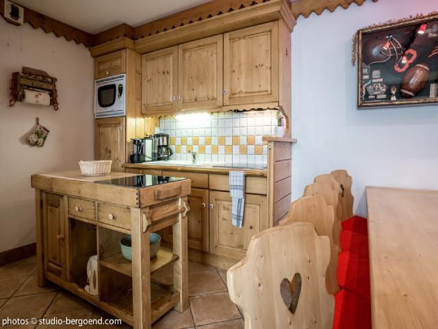 Wynajem na narty Apartament 4 pokojowy 8 osób (B14) - Résidence le Roselend - Les Arcs - Aneks kuchenny