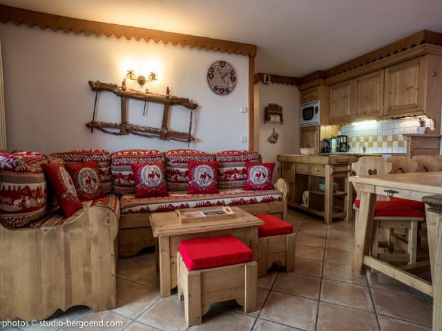 Wynajem na narty Apartament 4 pokojowy 8 osób (B14) - Résidence le Roselend - Les Arcs - Pokój gościnny