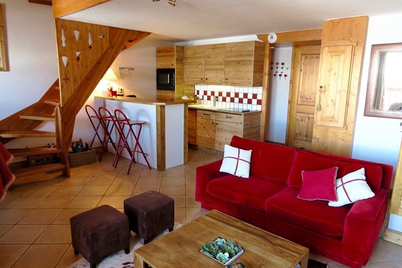 Wynajem na narty Apartament 4 pokojowy 8 osób (B18) - Résidence le St Bernard - Les Arcs - Apartament