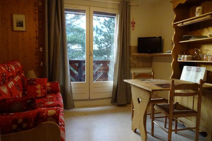 Wynajem na narty Studio 2 osoby (435) - Résidence les Glières - Les Arcs - Drzwiami balkonowymi