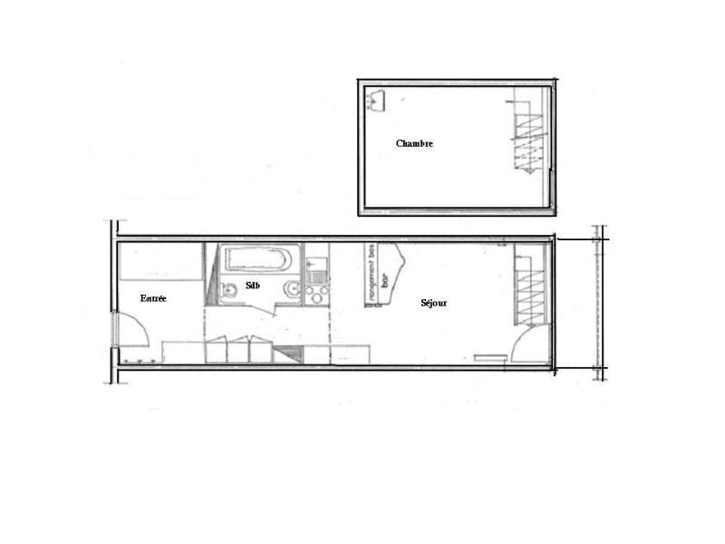 Location au ski Appartement 2 pièces 7 personnes (860) - Résidence les Lauzières - Les Arcs - Plan