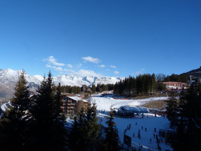 Location au ski Studio mezzanine 3 personnes (236) - Résidence Mirantin 2 - Les Arcs - Extérieur hiver