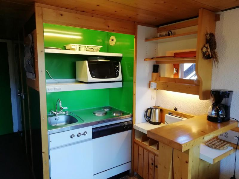 Location au ski Studio mezzanine 3 personnes (236) - Résidence Mirantin 2 - Les Arcs - Jardinet