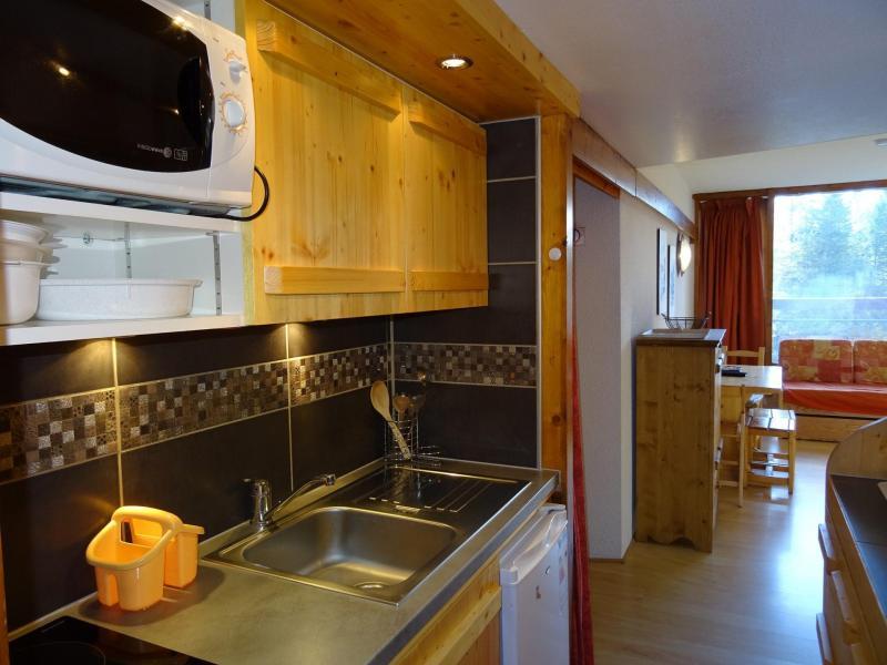 Location au ski Studio coin montagne 4 personnes (509) - Résidence Miravidi - Les Arcs - Extérieur hiver
