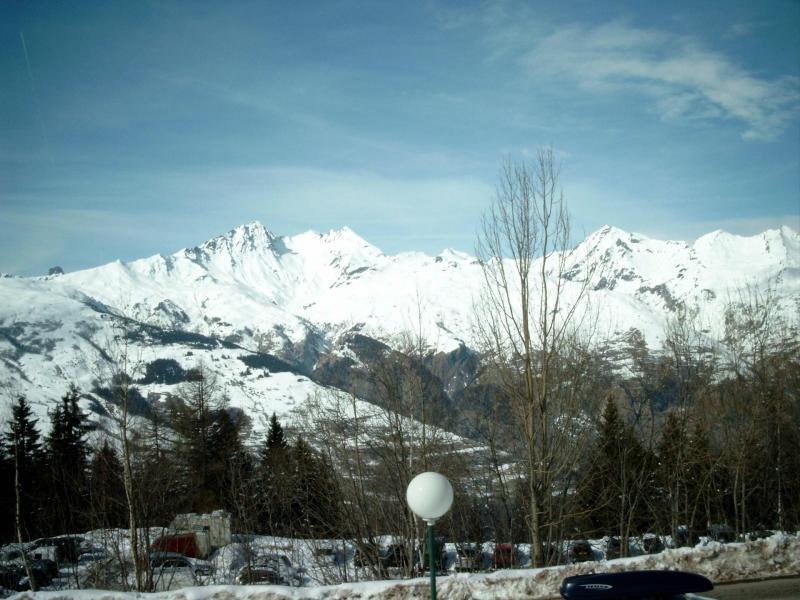 Location au ski Studio 3 personnes (002) - Residence Pierra Menta - Les Arcs - Extérieur hiver