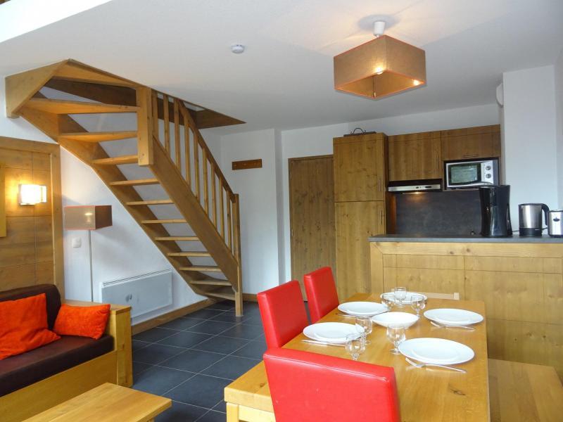 Location au ski Appartement 2 pièces mezzanine 6 personnes (20) - Residence Roc Belle Face - Les Arcs - Table